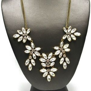 J.Crew Gold Crystal Statement Necklace